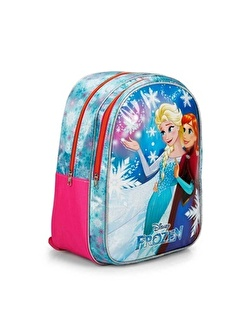 Disney Frozen Disney Çift Bölmeli Baskı Desenli Renkli Kız Çocuk Okul Çanta